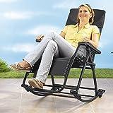 Vario-Schaukelstuhl , Schaukelstuhl für Garten, Terrasse, Balkon oder Garten, für eine entspannte Haltung