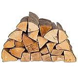 50kg (2x25kg) Brennholz & 50 Bioanzünder - Kaminholz 100% Buchenholz Feuerholz 25cm - kammergetrocknet, ofenfertig und einsatzbereit + 50 Stück Anzünder