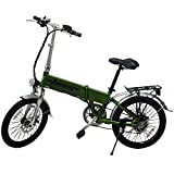 E-Bike Elektro Fahrrad Faltrad 20' 51cm ALUMINIUM Ebike 6 Gang Shimano (Grün)