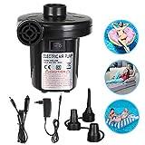 Etmury Elektrische Luftpumpe Multifunktion Elektrische Pumpe, 2 in 1 Elektropumpe mit 3 Luftdüse Kompressor für Luftmatratzen, Schlauchboote, Gästebetten, Aufblasbare Schwimmtiere Oder Camping