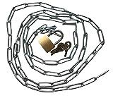 Stahlkette mit Vorhängeschloss Set - Robuste Kette mit Schloss + 3x Schlüssel - Länge wählbar 50 75 100 150 200cm - Verschließen & Versperren - Haushalt & Werkstatt (50cm)