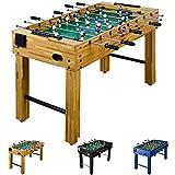 """Tischfussball """"Glasgow"""" Buche inkl. Zubehör Set, 2 Getränkehalter, höhenverstellbare Füße, nahtlos hochgezogene Spielfeldecken, Tischkicker, Kicker, Kickertisch"""
