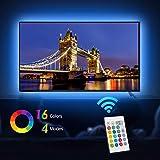 Led TV Hintergrundbeleuchtung, EveShine 78.7in/2 m/4 Leiste, mehrfarbige RGB TV LED Hintergrundbeleuchtung mit Fernbedienung USB für 40 bis 60 Zoll HDTV,TV-Bildschirm und PC-Monitor