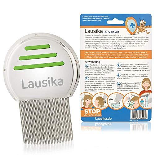 Läusekamm Lausika, Metall Nissenkamm mit extra engstehenden Zinken. Für Kinder und Erwachsene bei Kopfläusen und Nissen