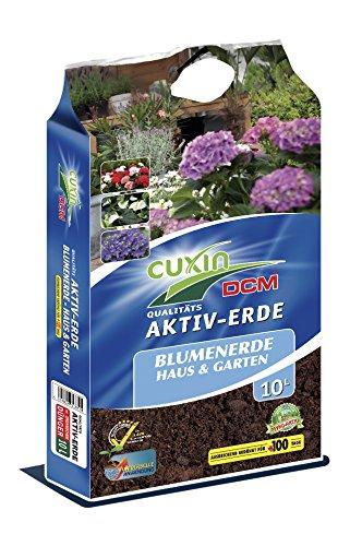 Cuxin Blumenerde für Haus und Garten 10-80 L  Pflanzerde mit 100 Tage organischen Dünger (10 L)