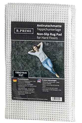 B.PRIME 150x210cm Antirutschmatte I Teppichunterlage I Teppichunterleger I Teppichunterlage I Rutschschutz für Teppich
