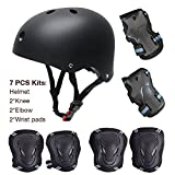 Kinder Scooter Hoverboard BMX Bike Helm, Hand-Knie, Ellenbogen Pads und Gel Pads