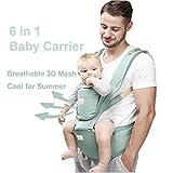6 in 1 Baby Carrier/ Babytrage/ Bauchtrage/ Rückentrage Neugeborene 360 for All Seasons- 6 Position, Einfaches Stillen, Keine Säuglingseinlage Erforderlich, Anpassung an Wachsende Babys