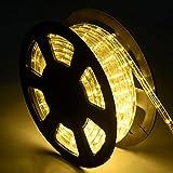 COSTWAY 10M LED Lichterschlauch Lichtschlauch Lichterkette für Außen und Innen mit 360 LEDs Weihnachtsbeleuchtung Weihnachten Deko (Warmweiß)