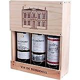 Bordeaux AC 3er Holzkiste 2014 Bordeaux AC Rotwein trocken Caves de Rauzan Bordeaux Frankreich 1Stück