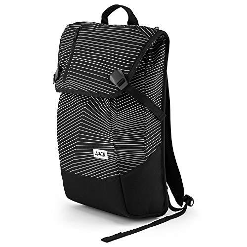 AEVOR Daypack Fineline Black Rucksack für die Uni und Freizeit Inklusive Laptopfach und erweiterbar auf 28 Liter