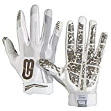 GRIP BOOST Stealth Fußball Handschuhe Pro Elite (White, Youth Large)