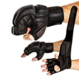 FOX-FIGHT X Neu Legend MMA Handschuhe professionelle hochwertige Qualität echtes Leder Boxhandschuhe Sandsack Training Grappling Sparring Kickbox Freefight Kampfsport BJJ Gloves braun, L