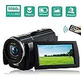 Videokamera Camcorder Full HD 1080P 30FPS Camcorder Kamera Makro Vlog Kamera 24MP Camcorder Mit Fernbedienung
