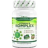 Vitamin B Komplex 500 Tabletten - Alle wichtigen B-Vitamine in 1 Tablette, Vitamine B1, B2, B3, B5, B6, B12 , D- Biotin und Folsäure, Premium Qualität, Vegan, Vit4ever