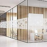 fancy-fix selbsthaftende statische Fensterfolie mit Löwenzahn-Motiv - Milchglasfolie zur Dekoration und Schutz der Privatsphäre 43 x 200 cm