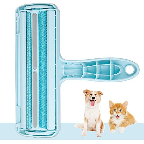 Kinkaivy Superior Tierhaarentferner Fusselrolle, Fusselbürste für Hund und Katze, Tierhaar Roller Wiederverwendbar, Effektiv für Möbel, Bettwäsche, Couch, Teppich und mehr.