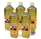 5er Pack 100% Erdnuss-Öl [5x 1000ml] Erdnussöl ~ Peanut Oil ~ Wok Öl + ein kleines Glückspüppchen - Holzpüppchen