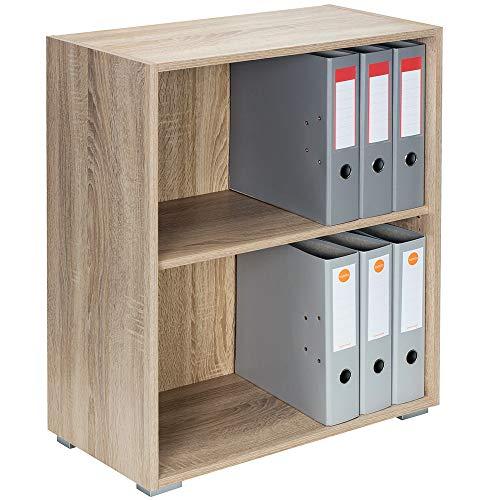 Deuba Standregal Bücherregal Wandregal Regal Holz »Vela« 2 Fächer Eiche【weitere Modell- & Farbauswahl】