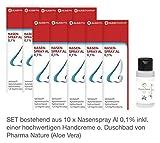 Nasenspray Al 0,1% - 10er Sparpackung - inkl. hochwertige Handcreme o. Duschbad Von Pharma Nature