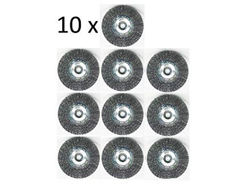 10er Set Fugenbürste für Elektrische Fugenbürste GRIZZLY EFB 401 Metall / Draht / runde Drahtbürste / Metallbürste