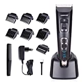 DEERCON Herren Haarschneider für Männer Haarschneidemaschine Elektrischer Bartschneider Rasierer Haarschere Haartrimmer Präzisionstrimmer Akku- und Netzbetrieb Wiederaufladbare USB