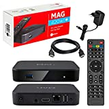 MAG 420w1 Original Infomir & HB-DIGITAL 4K IPTV Set TOP Box Multimedia Player Internet TV IP Receiver # 4K UHD 60FPS 2160p@60 FPS HDMI 2.0 HEVC H.256# ARM Cortex-A53# WLAN WiFi (802.11n) + HDMI Kabel