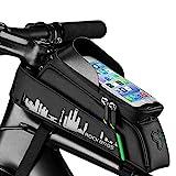 Fahrrad Rahmentaschen Fahrrad Handytasche Wasserdicht Farhrradlenkertasche Oberrohrtasche Handytasche Geeignet für Smartphones Fahrrad Rahmentasche mit von 6 Zoll