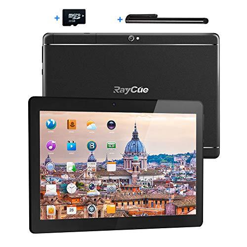 10,1 Zoll 3G Android Tablet, Android 8,1 Quad Core CPU, 64 GB ROM, 2 GB RAM, IPS HD (1280 x 800), entsperrter Telefonanruf Phablet PC mit Zwei SIM Kartensteckplätzen, WLAN, Bluetooth und Tablet Pad