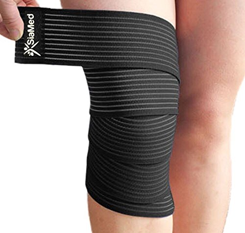 SiaMed 2X Sportbandage - Gelenk-Bandagen - Stützbandagen - Gewichthebergürtel mit Klettverschluss - Damen und Herren - rechts und Links