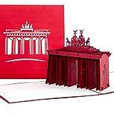 Pop Up Karte'Berlin - Brandenburger Tor' - Gutschein & Reisegutschein als 3D Karte - als Einladung, Gutscheinkarte, Einladungskarte und Geburtstagskarte eine tolle Geschenkidee