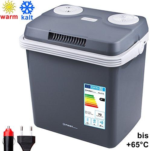 TZS First Austria - 32 Liter Kühlbox, zum warmhalten oder kühlen, thermo-Elektrische Kühlbox 12 Volt und 230 Volt, Mini-Kühlschrank | für Auto und Camping | EEK A++
