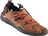 Nordcap Trekkingsandalen/Herren Ledersandalen, Wander- und Outdoor-Sandalen mit regulierbaren Schnürsenkel, Klettverschluss und Profilsohle für extra Trittsicherheit (Größen: 40-46, Farbe: Braun)