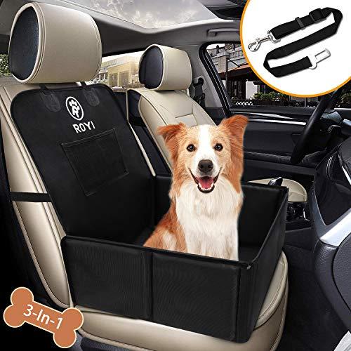 Wimypet Hunde Autositz für Kleine Mittlere Hunde, Robust Rückbank & Vordersitz Hundesitz mit Sicherheitsgurt, Wasserdicht Faltbar Autositzbezug Atmungsaktiv Anti-Rutsch Hundedecke