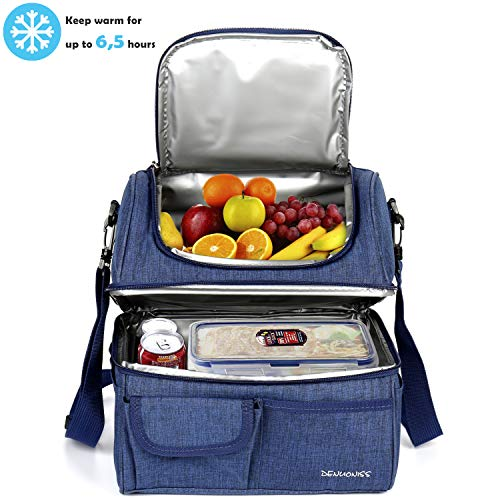 Kasimir 30L Picknicktaschen Doppelschicht Kühltasche Kühlkorb Picknicktasche Faltbare Isoliertasche Lunchtasche Mittagessen Tasche Thermotasche Isoliertasche für Lebensmitteltransport
