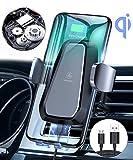 VANMASS Automatisch Wireless Charger Auto Handyhalterung Elektronisch Motor Betrieb 10W Fast Charging Extra Stabil Lüftung Qi Ladestation Auto für iPhone XS/X/8 Galaxy S10/S10+/S9/S8, Andere Qi Geräte