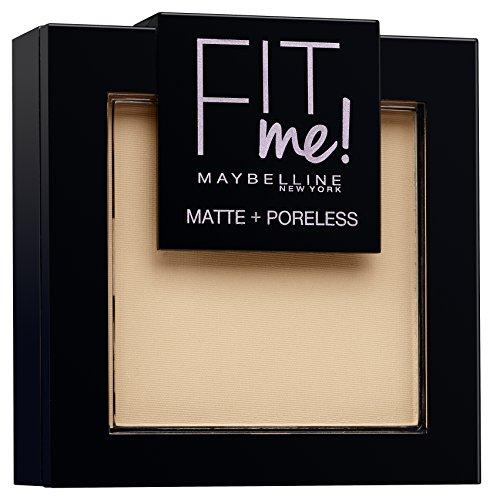 Maybelline Fit Me! Matte und Poreless Powder Nr. 120 Classic Ivory, mattierendes Puder, passt sich dem Hautton an, lässt den Teint strahlen ohne die Poren zu verstopfen, für ein makelloses Finish, 9 g