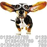 alles-meine.de GmbH 2* Wandtattoo / Sticker / Aufkleber - wasserfest & wetterfest -  Hund - Dackel / Beagle  - 31 TLG. Set - incl. Zahlen / Wandsticker / Wandaufkleber - selbst..