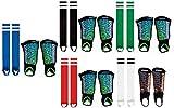 Die Sportskanone Tornado Schienbeinschoner Set mit Knöchelschutz und Stutzen (Schwarz, Bambini (bis 120cm))