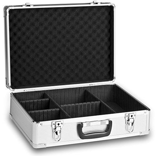 Mantona Foto-Koffer Basic M mit Schaumstoff silber (aus Aluminium, abschließbar)