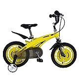 Dfghbn Fahrrad Bike Trainer Kinder Jungen Gilrs Fahrrad Freestyle Kind Sport Fahrrad mit Stablizers in Größe Zoll 12,14 Alter 3+ Fitnessgeräte (Farbe : Gelb, Größe : 14 inch(90-110cm))