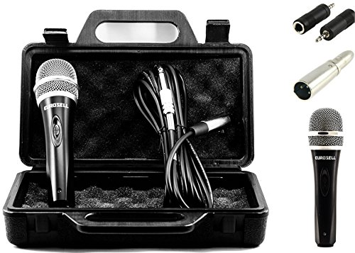 TronicXL Mikrofon dynamisch + Koffer + Kabel + Adapter XLR Klinke 6,35mm 3,5mm Universal Handmikrofon