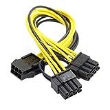cablecc PCI-E PCI Express 8pin ATX 6pin Stecker auf Dual & 6pin Buchse Video Karte Splitter Power Verlängerungskabel Kabel
