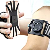 Bovon Sport Armband Abnehmbare Handytasche fürs Oberarm, Sportarmband für iPhone XS Max/XR/XS/X/8 Plus, Open Face für Touch Screen Control, Joggen Handy Armband für Galaxy Note 9/S9/S8 Plus (Schwarz)