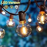 OxyLED LED Garten Lichterketten Außen,[LED Version] Gartenterrasse außerhalb der Lichterketten,wasserdichte Innen/Außen-Lichterketten für Terrassenpatio Xmas,25ft G40 12 Birnen [Energieklasse A+]