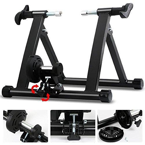 Yaheetech Stahl Rollentrainer Fahrrad Heimtrainer mit Magnetbremse, für Fahrräder 26' bis 28', Fahrradfahren zu Hause bis zu 150 Kg belastbar