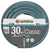 GARDENA Classic Schlauch 13 mm (1/2'), 30 m: Universeller Gartenschlauch aus robustem Kreuzgewebe, 22 bar Berstdruck, druck- und UV-beständig (18009-20)
