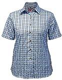 Fifty Five Damen Wander Bluse Lori hellblau 48 Kurzarm Funktions Shirt Atmungsaktiv