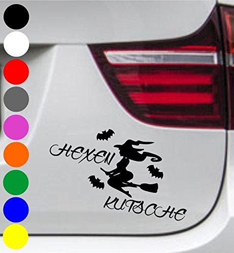 wDesigns Autoaufkleber Hexe HEXENKUTSCHE Fledermaus Tuning Aufkleber Sticker Sprüche