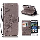 KATUMOWallet Case Kompatibel mit P8 Lite, Luxuriös PU Ledertasche Handy Etui Kartensteckplätze und Seitenständer Hülle für Huawei P8 Lite/Huawei ALE-L21 Cover Shell
